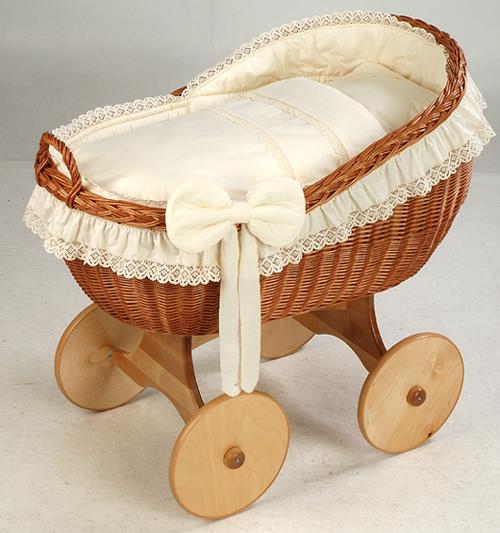 Wicker Cradle Bianca By MJ Mark